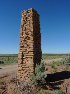 Entrance pillar at Red Mesa Camp