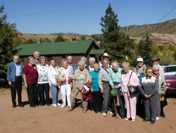 Gathering of CCC Chapter 7 members at the Morrison Camp,  October 2005.