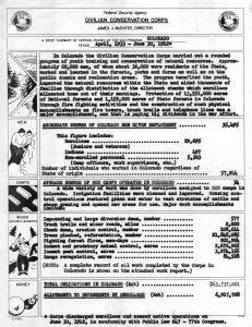 Summary of Colorado CCC work, 1933-1942 (NARA)