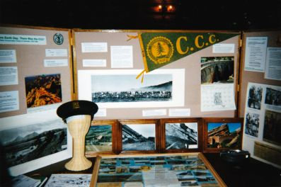 CCC exhibit on display at the Evergreen Earth Day Fair, 1997 or 1998.