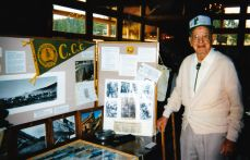 Carl Myers with the CCC display at the Evergreen Earth Day Fair.